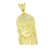 Jesus Pendant 14K Gold Finish Yellow Created Diamonds Micro Pave