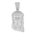 Low Price White Gold Finish Jesus Piece Pendant Christ Charm Lab Created Diamond