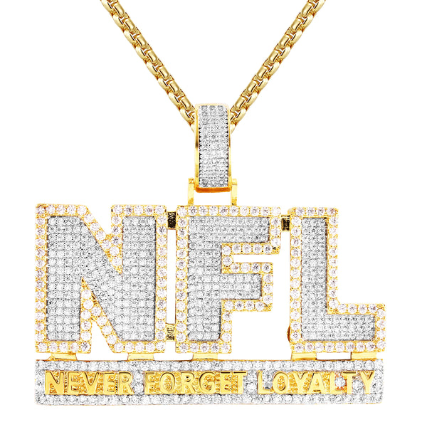 Never Forget Loyalty Silver  Double Layer Pendant