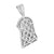 Jesus Face Pendant Lab Diamonds White Rhodium Finish
