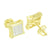 Kite Shape Earrings Yellow Gold Finish