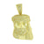 Gold Finish Jesus Face Pendant Charm Simulated Diamonds