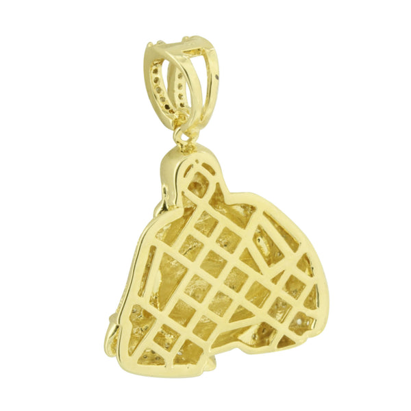 Buddha Design Pendant Religious Buddhist Yellow Gold Finish