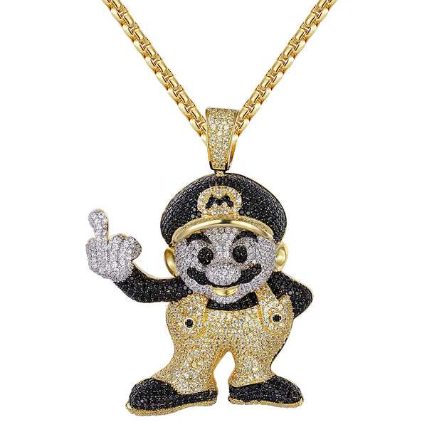 Yellow And Black Cartoon Character pendant