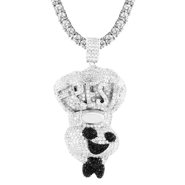 Fresh Dough Boy Chef Black &White Pendant Chain