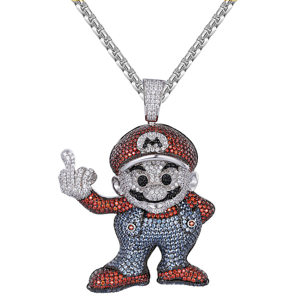 Hip Hop Red &Blue Cartoon Character Men's Pendant Chain