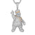 Mens Icy Doughboy Chef Bling middle Finger Custom Pendant