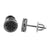 8 MM Mens Womens Earrings Black Gold Finish Black Simulted Diamond