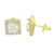 Square Shape Earrings 14k Gold Finish Mens Womens Lab Diamonds Classy