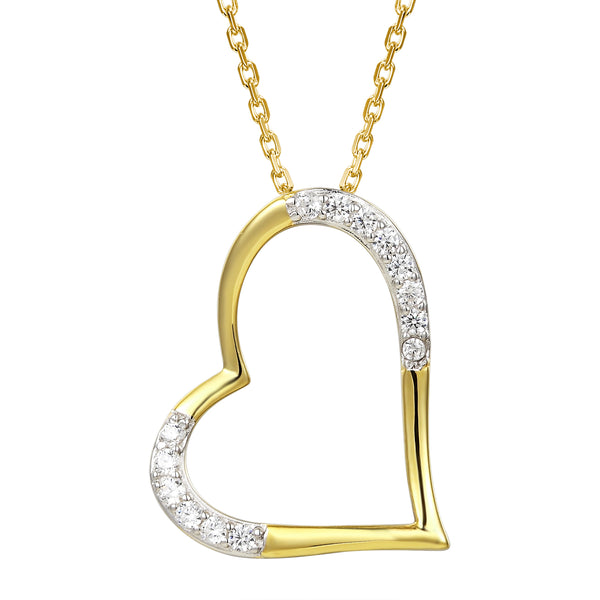 Women's Forever Love Heart Pendant Chain Valentine's Gift Set
