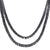 Men's 14k Black Gold Finish Lab Diamond 2 Row Fashion Tennis Necklace