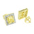 Princess Cut Canary Earrings Solitaire Screw Back Square Lab Diamonds