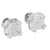 14K White Gold Finish Earrings Screw Back Studs Elegant