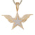 Gold Tone Angel Wings 3D Double layer Stay Shape Pendant