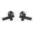 Black Jesus Cross Earrings Screw Back