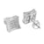 Kite Earrings Concave Design 14K Finish Lab Diamonds Screw back Pave