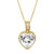 14k Gold Finish Love Heart Solitaire Small Pendant Valentine's Set