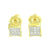 Kite Shape Earrings Gold Finish Womens Mens 5 MM Screw Back