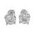 Marquise Cut Round Earrings Lab Diamonds 14k Gold Finish Screw On Unisex
