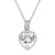 Sterling Silver Love Heart Solitaire Small Pendant Valentine's Set