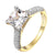 Princess Cut Womens Bridal Ring 14k Gold On Sterling Silver Wedding Engagement