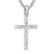 Men's New Baguette Row Iced Out Religious Jesus Cross Pendant