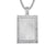 Unisex Baguette Dog Tag Bling Picture Frame Gift Pendant Chain