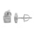 Simulated Diamonds Mens Earrings Ladies Rhodium Finish Screw Back 6 MM