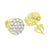 14K Gold Tone Earrings Cluster Set Lab Diamonds Screw Back