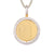 Gold Tone Solitaire Round Picture Photo Circle .925 Spin Pendant