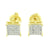 Yellow Gold Finish Earrings Lab Created CZ Studs Screw Back Men Women