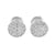 Cluster Set Mens Earrings Round Deisgn Screw On Rhodium Finish