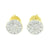 Round Cluster Set Earrings Simulated Diamond Studs Mens Womens