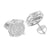 Mens Round Earrings 14K White Gold Finish Lab Diamond Screw Back
