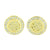 Gold Finish Round Earrings Simulated Diamonds Screw Back 11 MM