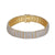 Men's 14k Gold Finish Iced Out Prong Set Custom Band Bracelet