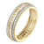 Princess Cut Eternity Ring 14k Gold Over Sterling Silver Wedding Engagement New