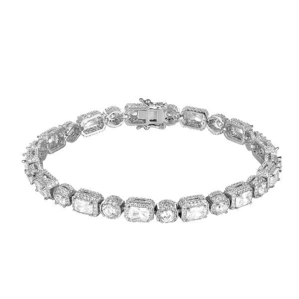 Men's Iced Out Solitaire Princess Cut Tennis Bracelet