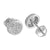 White Round Shape Earrings Simulated Diamonds Custom Celeb Wear