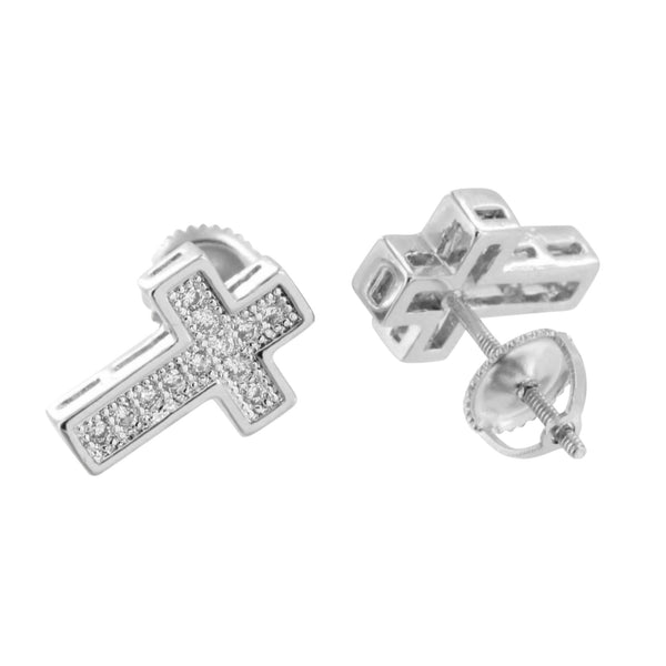 Cross Design Jesus Earring Crucifix Simulated Diamonds Unique