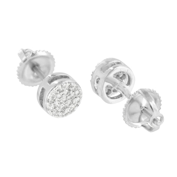 Round Shape Earrings Men Studs Designer Simulated Diamonds