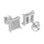Mens Square Design Earrings Simulated Diamonds Pave Set Screw Back