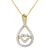 Infinity Love Heart 14K Gold Finish Pendant Valentine's Set
