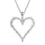 Solitaire Open Heart Frame Women's Silver Love Pendant Set