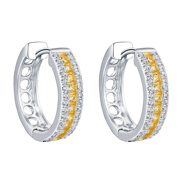 Hoop Earrings Canary Lad Diamond Designer
