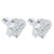 April Birthstone Women Diamond Solitaire Heart Earrings White Gold Finish Over 925