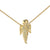 Guardian Praying Angel Pendant 14k Gold Finish Sterling Silver Lab Diamonds Chain
