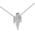 Praying Angel Pendant 14k White Gold Finish Lab Diamond Dainty Mini Charm 925 Silver