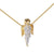 Hip Hop Guardian Angel Pendant Sterling Silver 14k Gold Finish Dainty Chain Praying Cherub