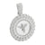 White Finish Angel Pendant Miami Cuban